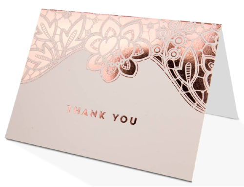 Printed Foil Greeting Cards