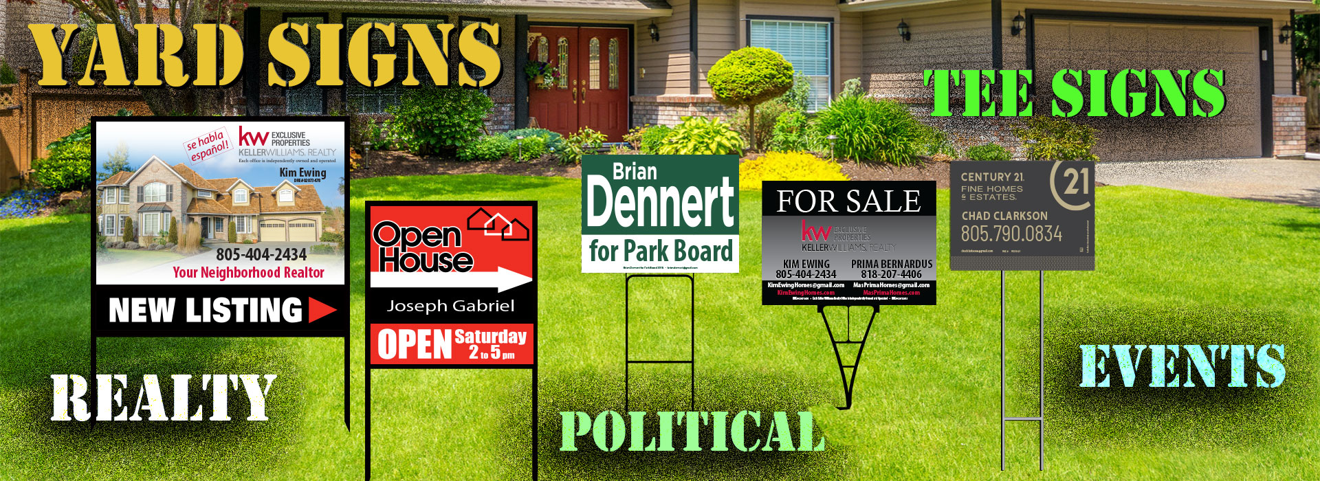 Yard Signs, Signs, Realty Signs, Political Signs