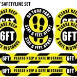 6ft Safetyline Coronavirus Floor Decals